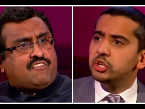 "Ram Madhav (RSS Spokesperson) ""Your ISIS"" with Mehdi Hasan on issue of Kashmir @Aljazeera"