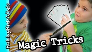 Magician Tricks the HobbyKids with MAGIC?! Las Vegas Store HobbyKidsVids
