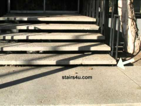 Problems With Large Concrete Stair Treads   Public Safety