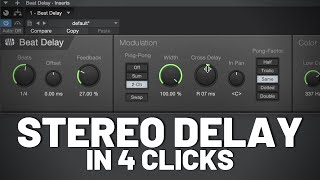 Stereo Delay in Four Clicks