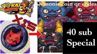 15 Demonic Coin Qr Codes (Yokai Watch 3)