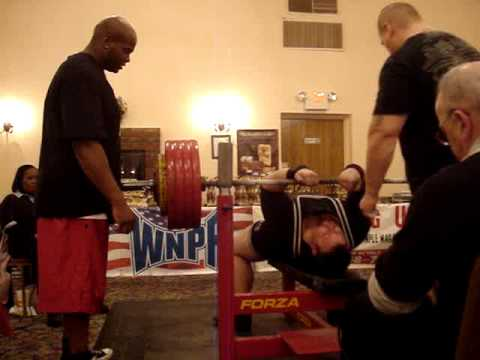 Big Eric 470 bench WNPF Sarge Mc Cray
