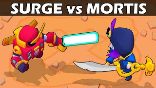 SURGE vs MORTIS | 1vs1 | The strongest sword | Brawl stars