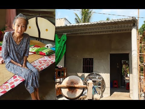 Bà Cụ Gầy Trơ Xương Sống Trong Căn Nhà Lá Rách Nát đã Có Nhà Mới đẹp Như Mơ
