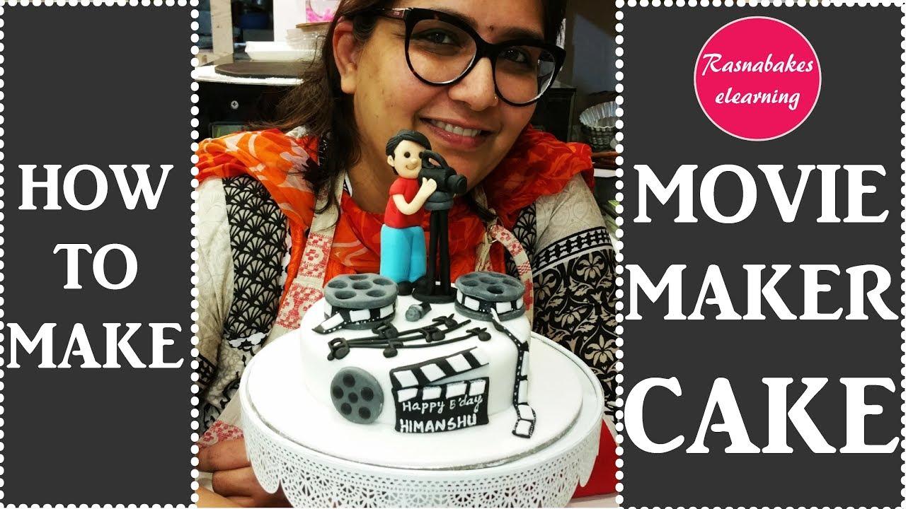 How To Make Movie Reel Cake Fondant Cake Ideas Youtube