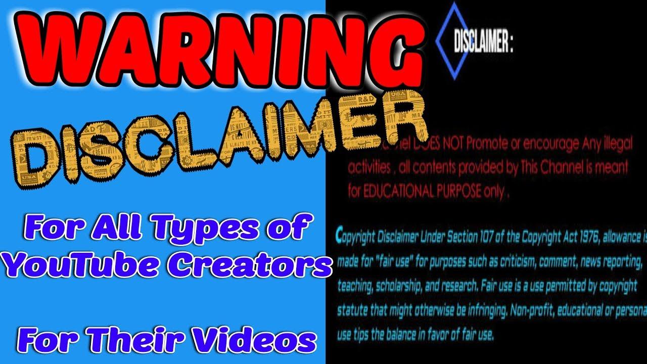 Disclaimer for youtube videos template copyright disclaimer no disclaimer for youtube videos template copyright disclaimer no copyright video template maxwellsz