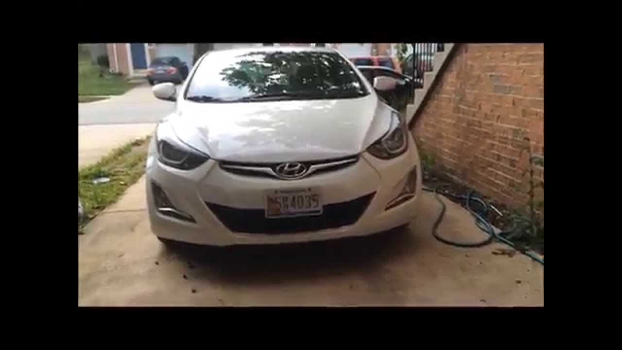 Splash Guard Car >> 2014 Hyundai Elantra OIL CHANGE - YouTube