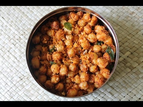 Chana Masala Sundal Recipe - Kondakadalai Sundal Recipe - Navrathri Recipes