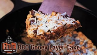 How to Make Dessert on a Weber Kettle - BBQ Gooey Layer Cake using a Cast Iron