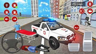 Ambulance Pickup Truck Driving - City Emergency Rescue Simulator 2021 - Android Gameplay
