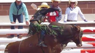 J.B Mauney wins bull riding on Day 5 ● Calgary Stampede 2015