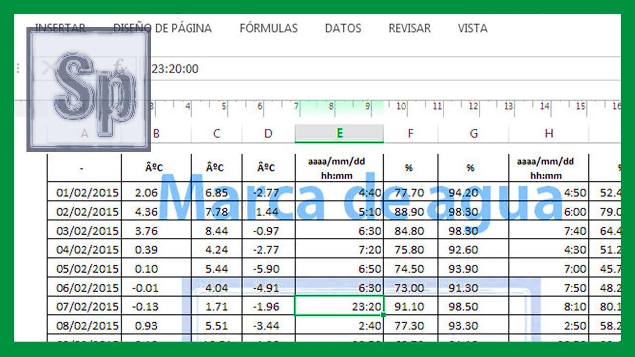 Excel - Imagen como marca de agua. Marca de agua en Excel. Tutorial ...