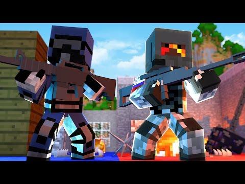 SNIPER vs SNIPER GUN MOD BATTLE! - Minecraft Mods (Flan's Mod) - Видео из Майнкрафт (Minecraft)