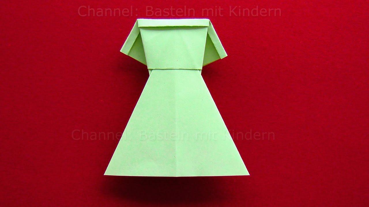 origami kleid falten diy kleider basteln mit kindern origami kleidung aus papier youtube. Black Bedroom Furniture Sets. Home Design Ideas