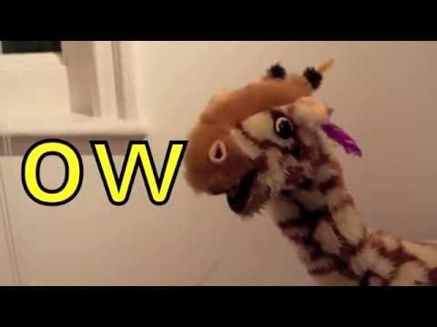 Download Geraldine the Giraffe learns ow spelling