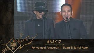 #ASK17   Moment Zizan & Saiful Apek Penyampai Anugerah