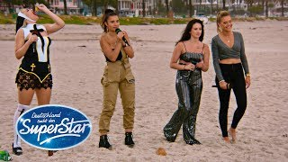"Gruppe 1: Chiara, Nataly, Lydia, Tamara mit ""Back To Black"" von Amy Winehouse 