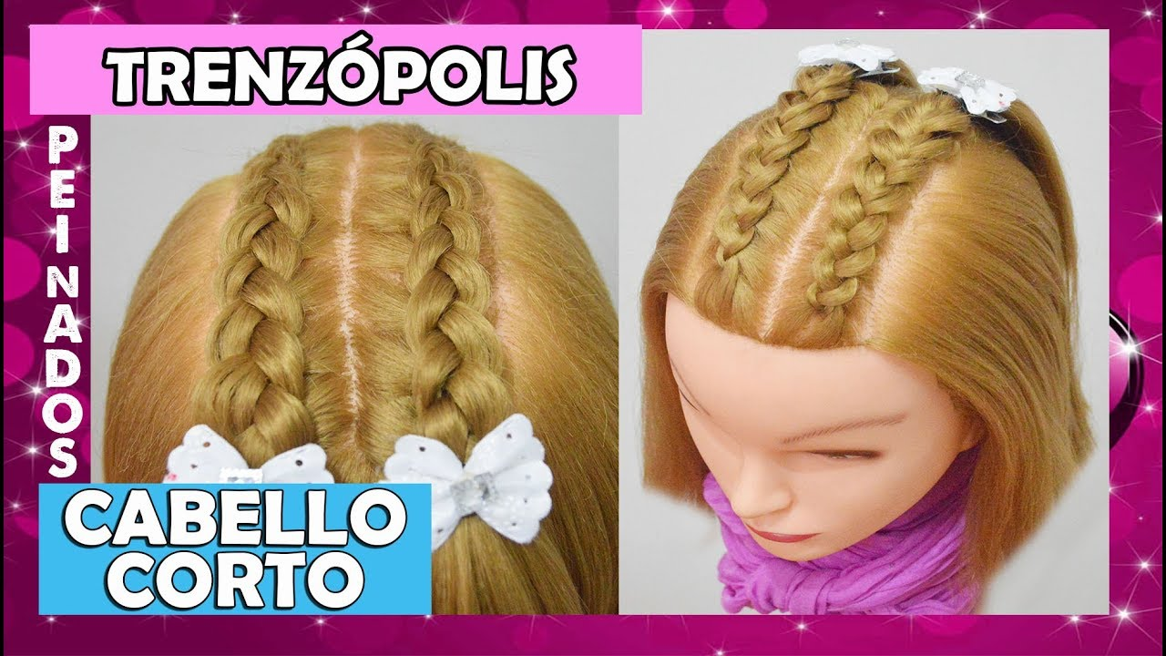 Peinados Faciles Y Rapidos Para Nina Cabello Corto Trenzas Con