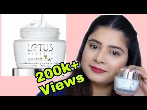 Lotus whiteglow skin whitening and brightening gel cream review # best whitening cream