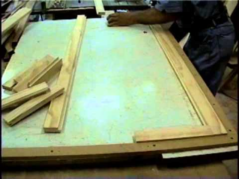 sanding and nailing cabinet doors