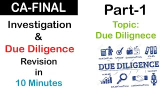 CA Final Audit | Investigation & Due Diligence Revision (Part-1)| Revisionary Lecture