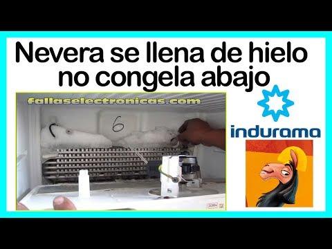 Refrigerador Indurama se llena de hielo | no congela abajo