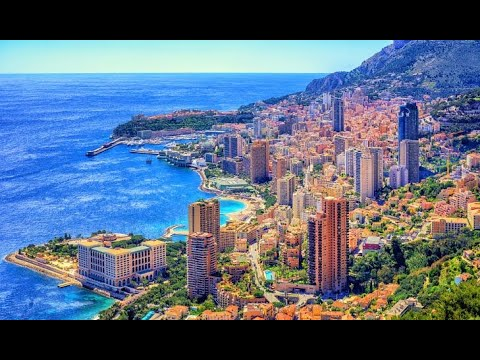 Monaco from the mountains French Riviera Monte Carlo