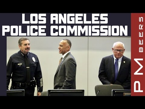 LAPD Chief Charlie Beck Being Rude with Police Commission President, Matt Johnson