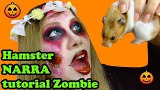 MI HAMSTER NARRA MAQUILLAJE DE ZOMBIE 🐹 muy facil 🧟♀️makeup zombie Halloween