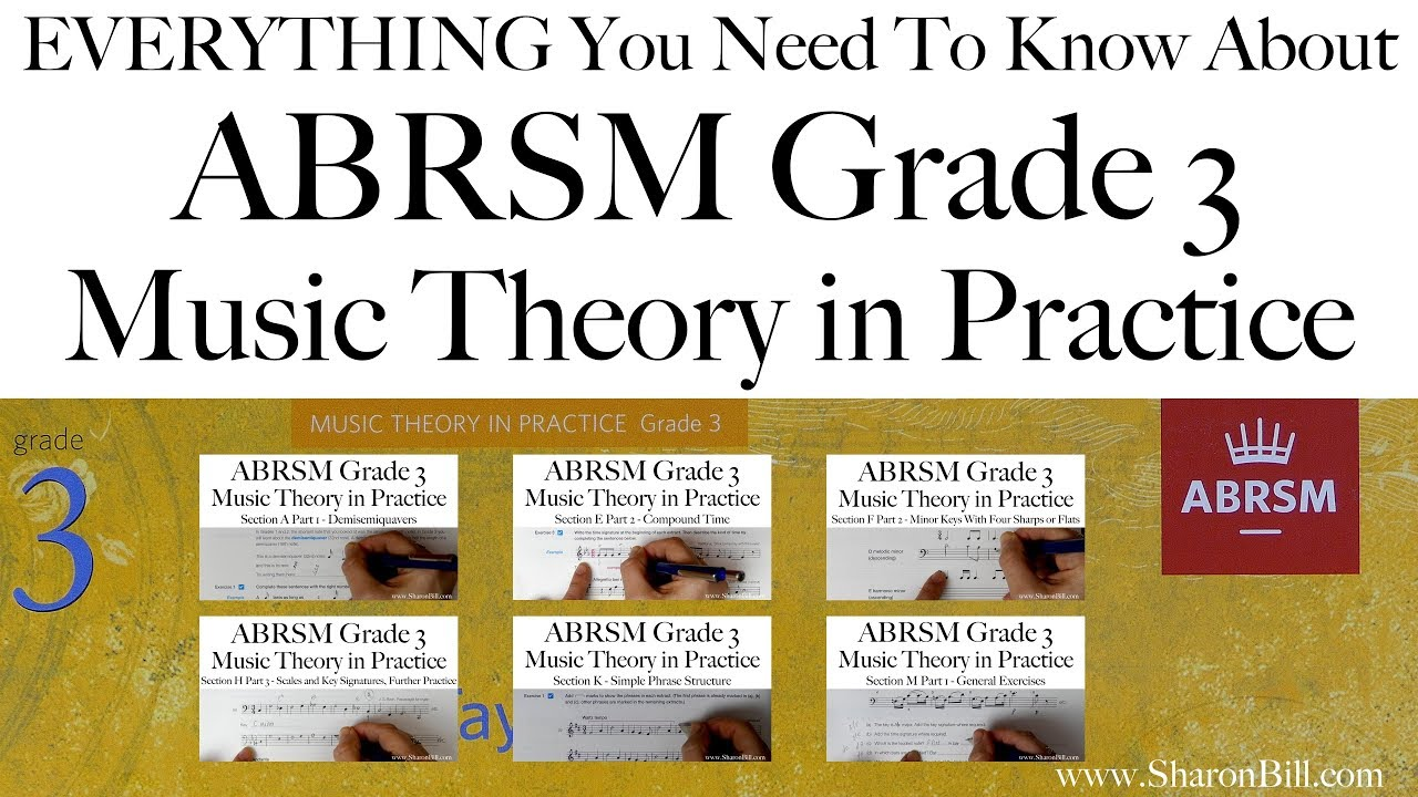 Workbooks music in theory and practice workbook : Everything you need to know about ABRSM Grade 3 Music Theory with ...