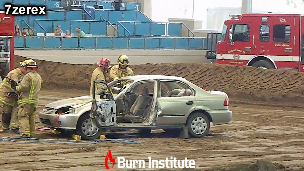 Vehicle Extrication Firefighter Demolition Derby San Diego County Fair  6-1-2019