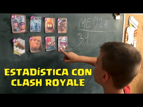 Aprende Estadística con Clash Royale, Media, Moda y Mediana