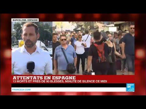 Attentat du groupe État islamique à Barcelone : Minute de silence à midi en Espagne