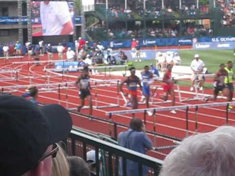 Men's 110m Hurdles SemiFinals: 2016 U.S. Olympic T&F Trials Heat 2