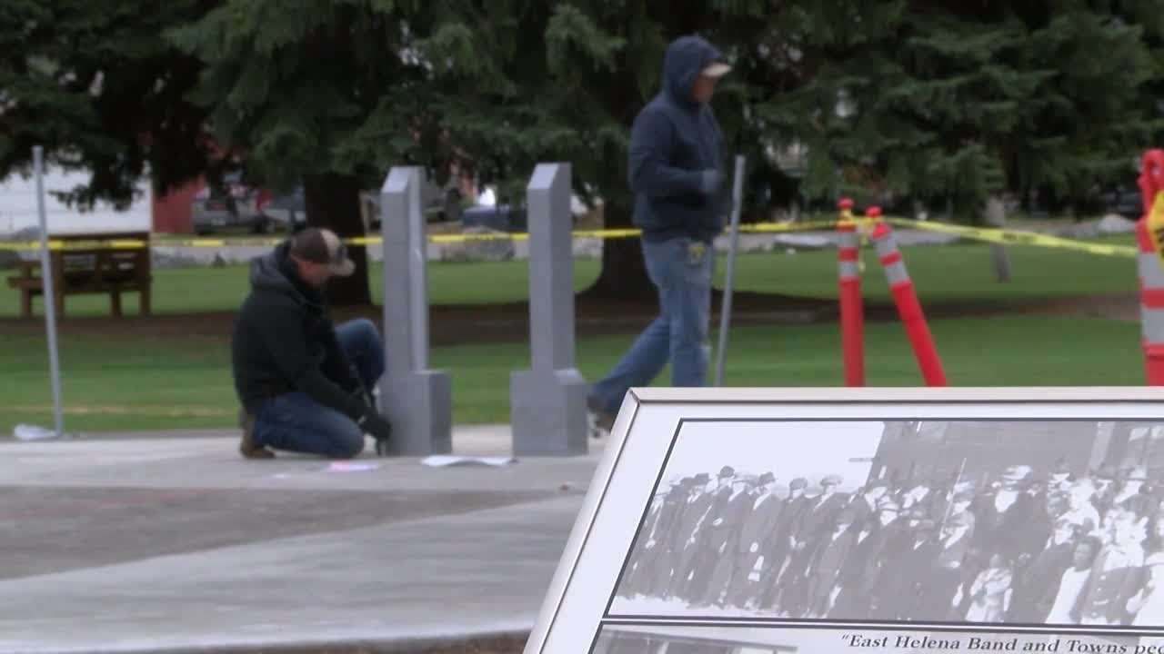 Anderson Stevenson Wilke Funeral east helena military veteran monument almost complete