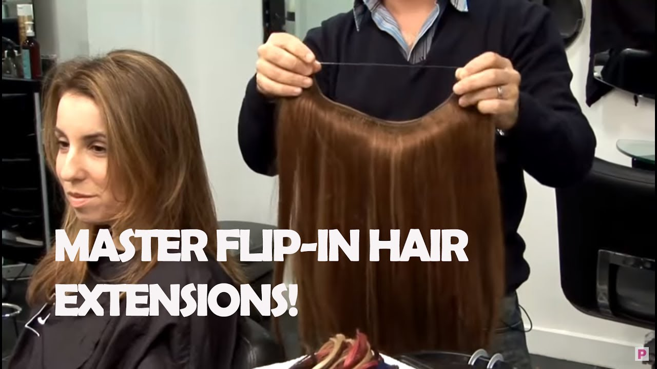 How To Use Flip In Hair Extensions Youtube
