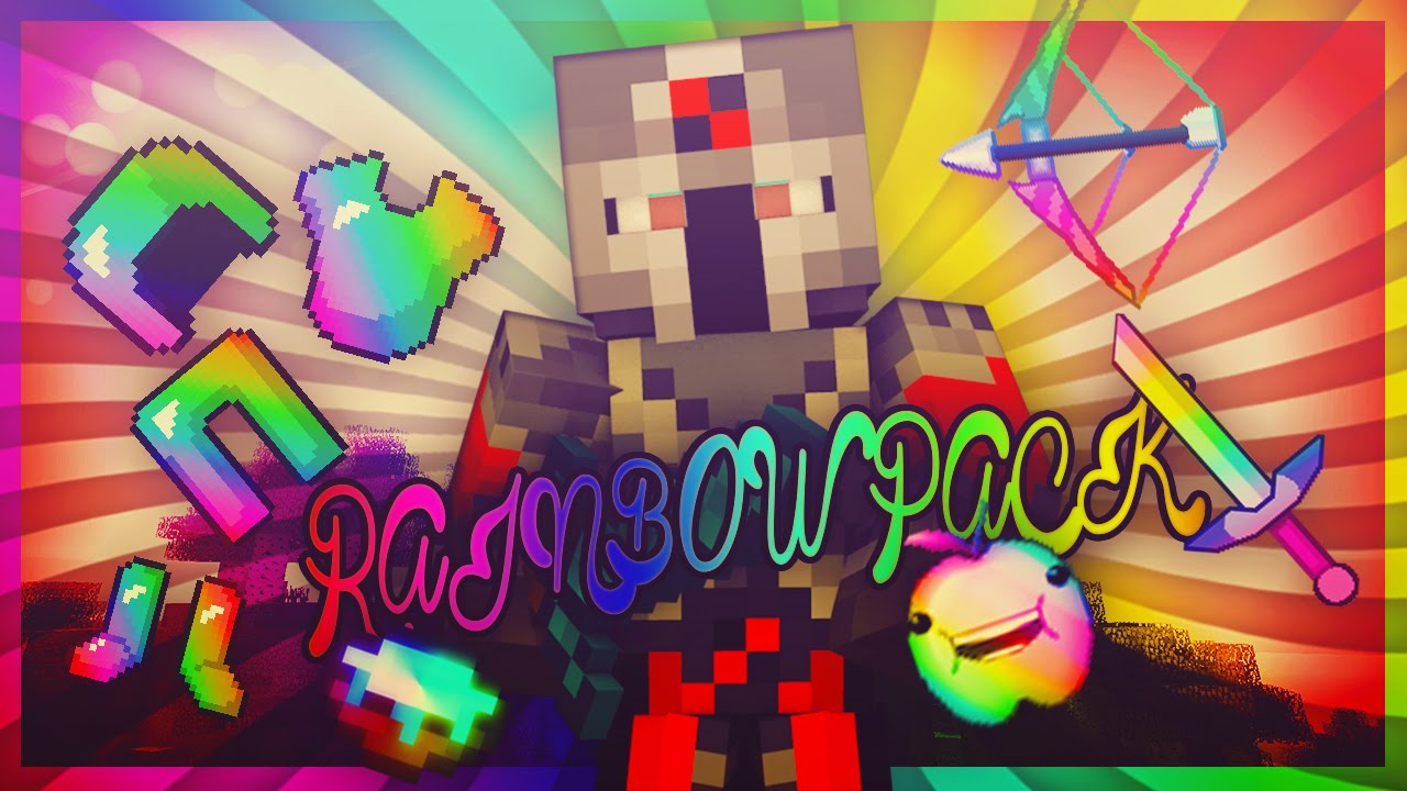 Minecraft Pvp Texture Pack Rainbow Pack Youtube