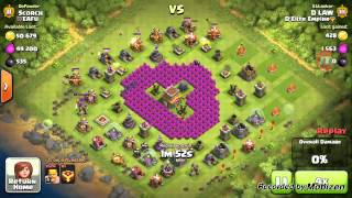 Stupid base with Stupid results (Clash of Clans)