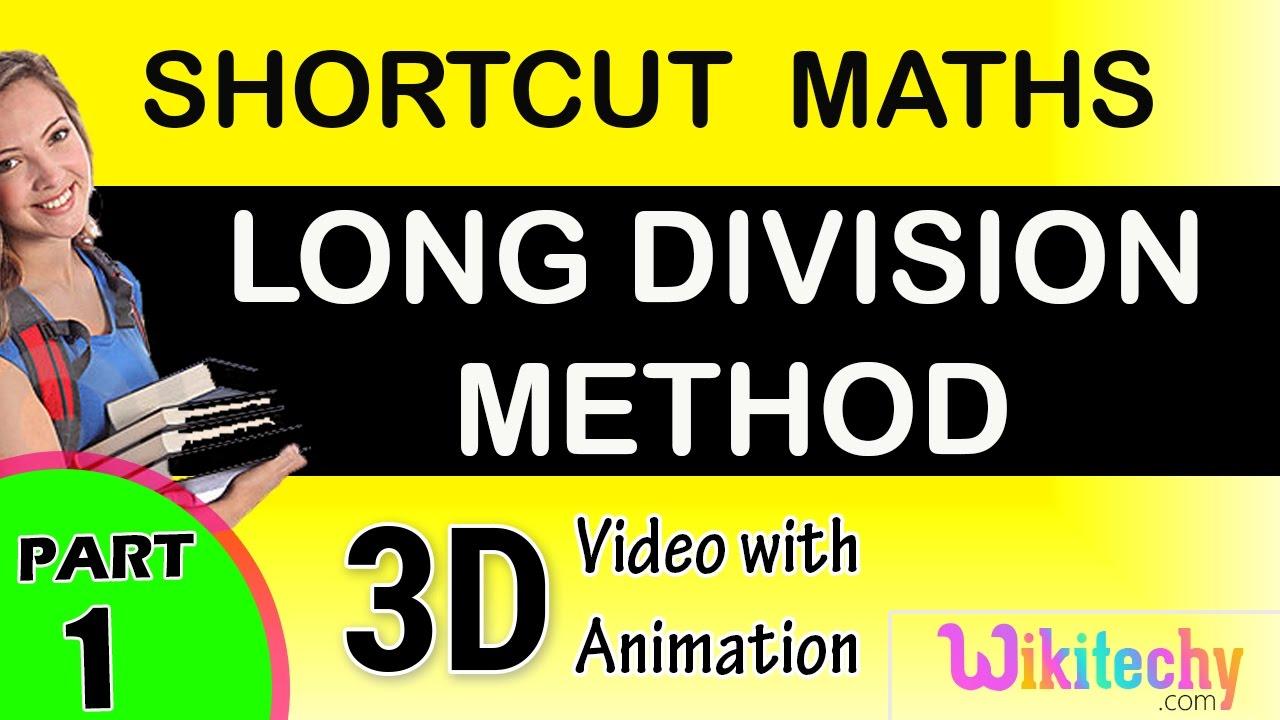 long division Method maths class 5 6 7 8 9 10 tricks shortcuts ...