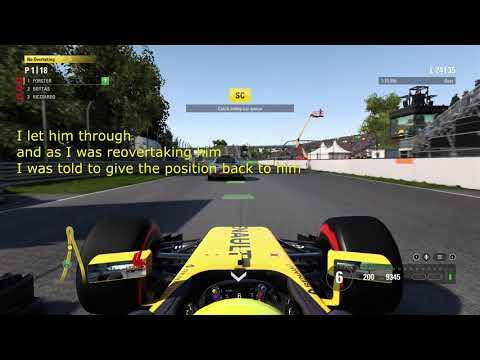 F1 2017 Safety Car Bug