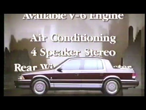 Plymouth Acclaim 1991 Commercial