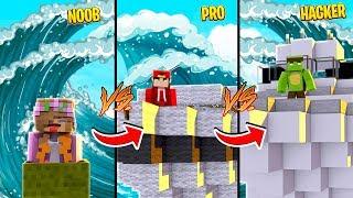 Minecraft NOOB vs PRO vs HACKER - TSUNAMI vs BOATS CHALLENGE!!