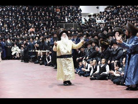 האדמו״ר מצאנז - מצווה טאנץ - תשע״ח   Sanzer Rebbe Dancing Mitzvah Tantz