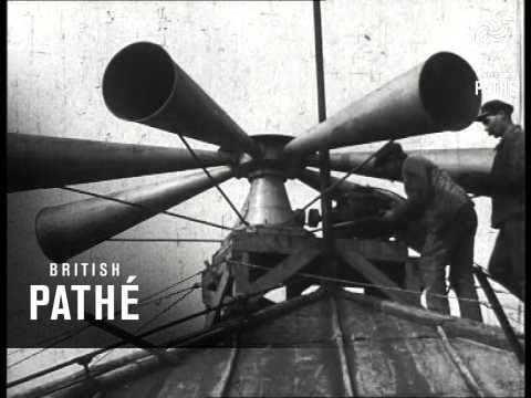 Air Raid Siren On Roof In Paris 1914 1918 Youtube
