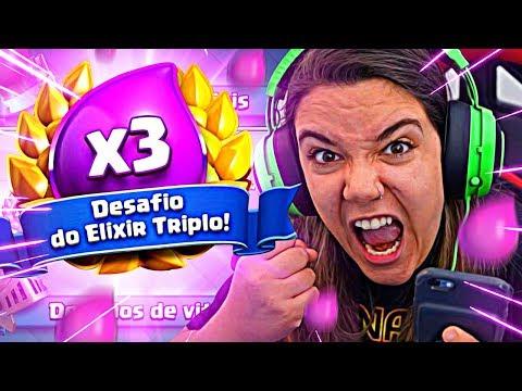 🔥🔥🔥 PIREI NO DESAFIO DO ELIXIR TRIPLO - Clash Royale