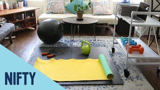 Küçük Bir Alanda Bir Ev Jimnastik Salonu Oluşturma