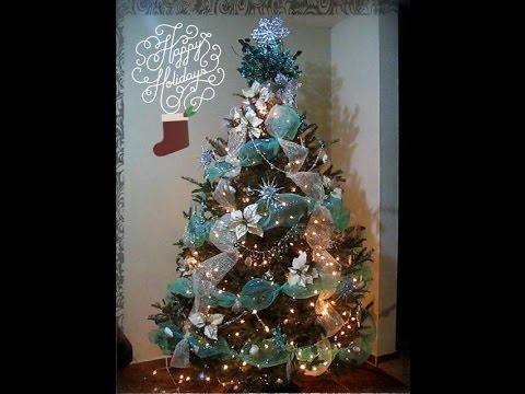 Como decorar un rbol de navidad f cil y sencillo youtube for Como decorar un arbol de jardin