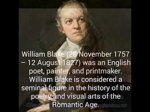 WILLIAM BLAKE ENGLISH POET. HIS QUOTES ON LIFE.