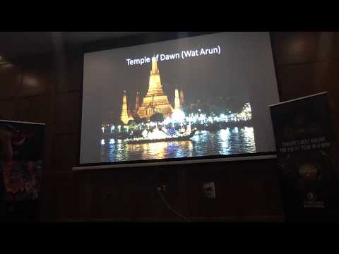 Emma Arnott, Thailand Tourism Authority presentation at the Thailand / Turkish Airlines Road Show