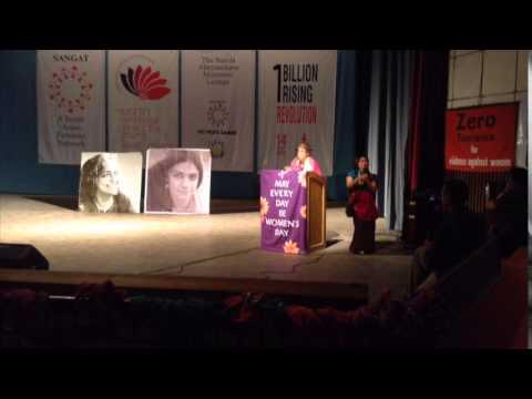 Charlotte Bunch delivering the Annual Sunila Memorial Lecture (Part 1)